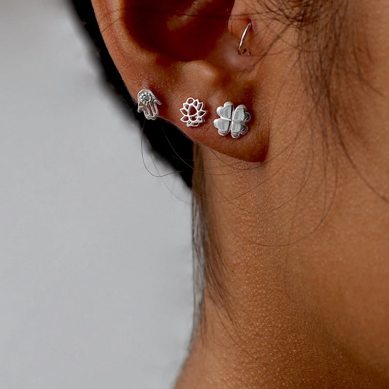 Zen Lotus Stud Earrings