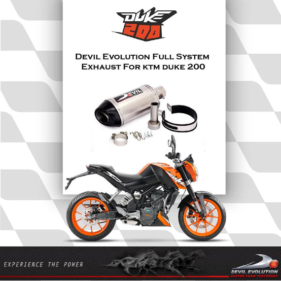 KTM DUKE 200 Full System Exhaust