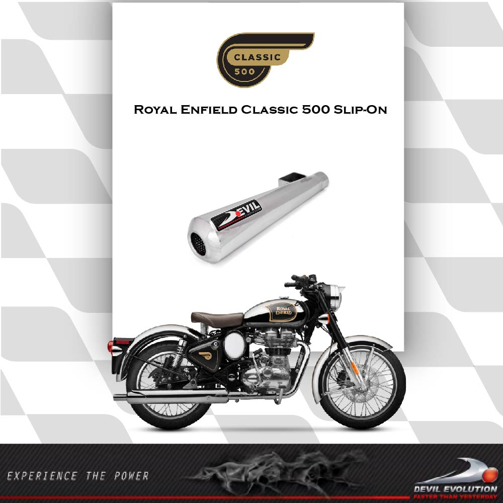 Royal Enfield Classic 500 Slip-on Exhaust | Devil Evolution
