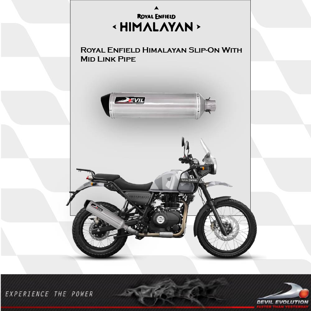 Royal Enfield Himalayan Slip-on with Mid Link Pipe | Devil Evolution