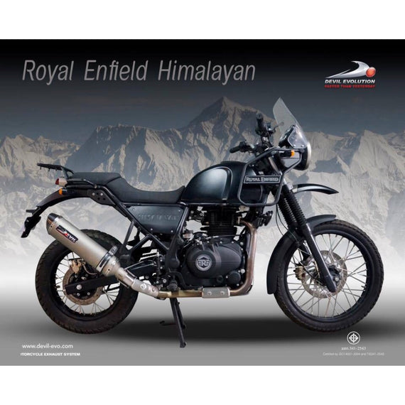 Royal Enfield Himalayan Slip-on with Mid Link Pipe