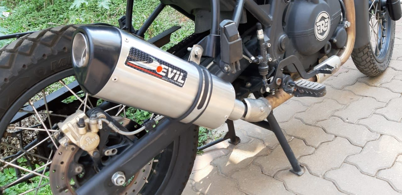 Royal Enfield Himalayan Slip-on (Part no. D2.1 - 420 mm) with Mid Link Pipe