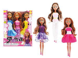 Amelia Doll Trio Dark Skin