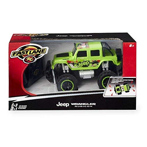Ele Fast Lane 1:24 Rc Monster Wheels Truck - Jeep Wrangler Rubicon