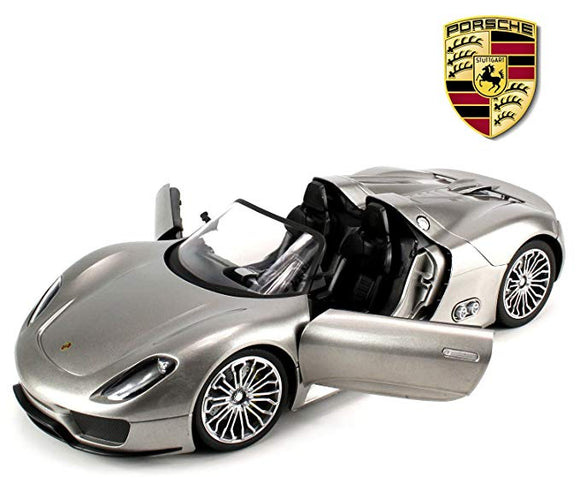 Porsche 918 Spyder Remote Control RC Car BIG 1:14 Scale Size w/ Bright LED Lights, Opening Doors, Detailed Construction