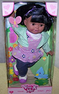 You & Me 14 inch Friends Doll - African American Girl Short Black Hair
