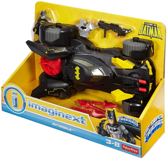 Imaginext FGC31 DC Super Friends Legends of Batman Deluxe Batmobile, Black/Yellow