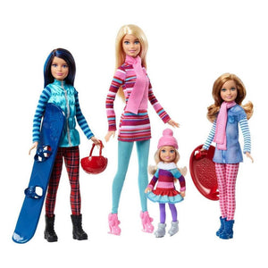 Barbie Sisters Winter Getaway Fashion Dolls Pink Passport Vacation