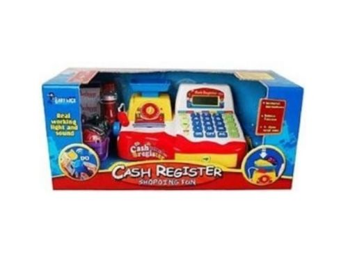 Supermarket Cash Register Checkout Scanner Scale Shopping Play Set For Kids