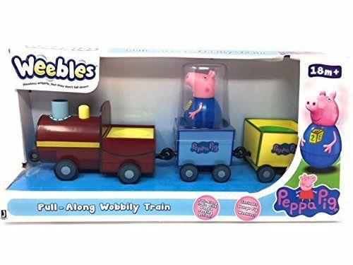 Peppa Pig Weebles Pull-Alog Wobbily Train Includes George Pig