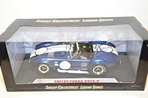 Shelby Collectibles Cobra 427 S/C Diecast Model Car 1:18 Scale - Blue and White Racing Stripe