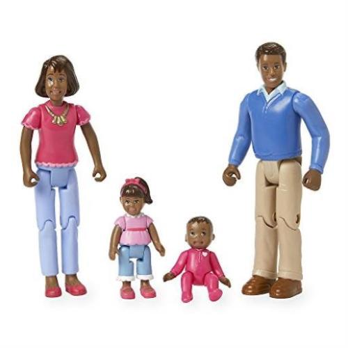You & Me Happy Family Family Action Figure Set (Dad Mom Daughter & Baby) Black