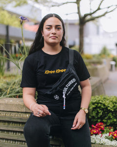 Kōrero Kōrero Tee - Black and Gold