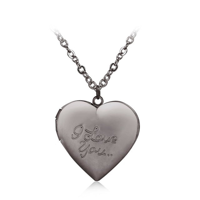 """I love you"" Heart Locket Pendant Necklace"