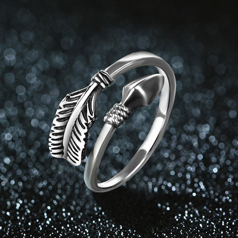 Sterling Silver Arrow Open Ring