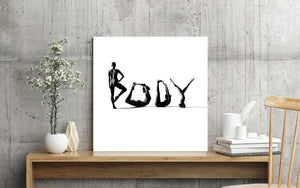 Yoga Art Words | Natural Body Shapes