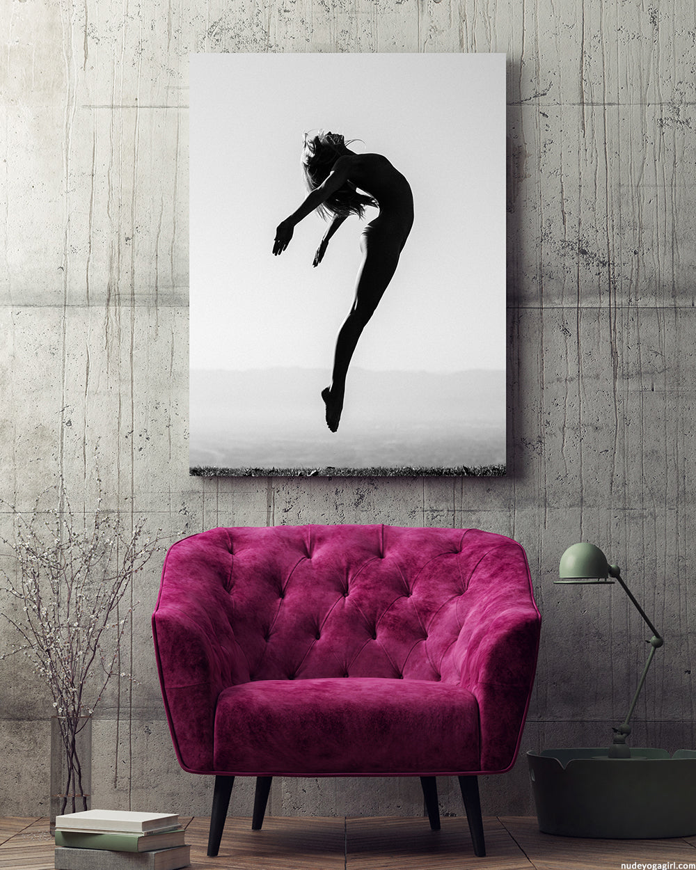 Fine art print Freedom by nude yoga girl