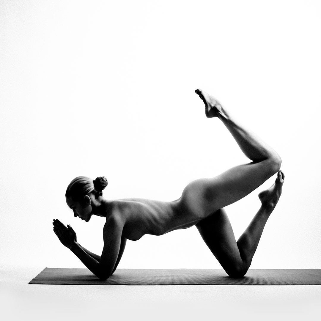 Yoga photography in photography studio