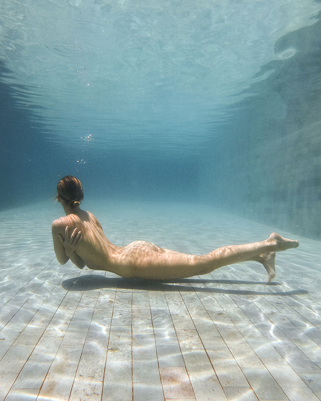 Yoga photography underwater in Thailand