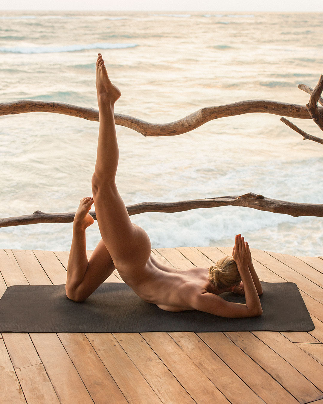 Yoga photography in Tulum, Mexico