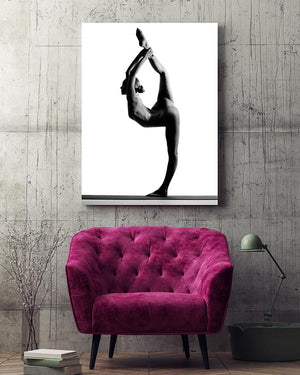 Yoga Girl King Dancer Aluminium Dibond Print