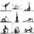 Naked Yoga Pose Collage Art Print