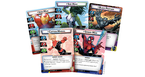 Marvel Champions Hero Cards
