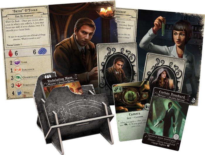 Dead of Night Expansion Contents for Arkham Horror board game