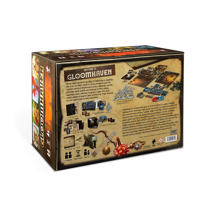 Gloomhaven Board Game Back Cover