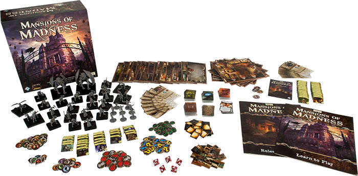 Mansions of Madness Board Game contents