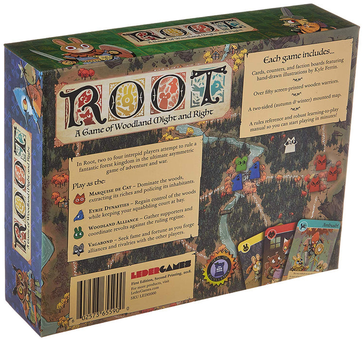 Root: A Game of Woodland Might and Right Board Game back cover