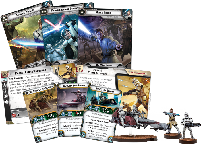 Star Wars: Legion Clone Wars Core Set Contents