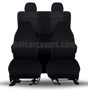 MIDNIGHT BLACK FULL SET SEAT COVERS FRONT REAR