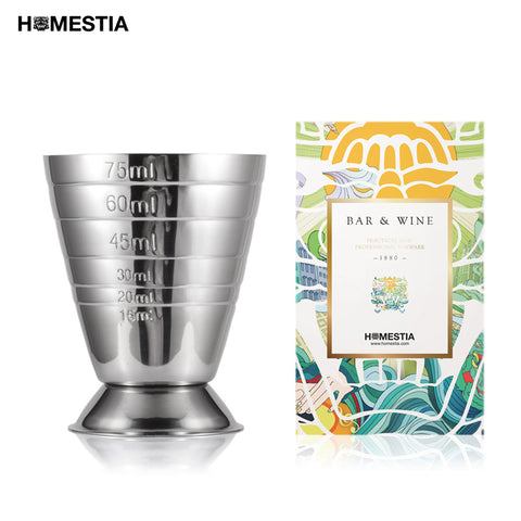 Homestia 75 ml / 2.5 oz en acier inoxydable Cocktail Jigger mesure liqueur tir coupe Drink Mixer mesureur Bar Martini outil de mesure