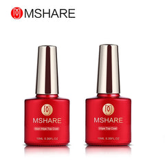 MSHARE 10 ml Chaude Top Coat Gel Nail UV Gel Polish Miroir En Verre finition Couverture 10 ml LED UV Soak off Shinning Couverture Top Gel laque