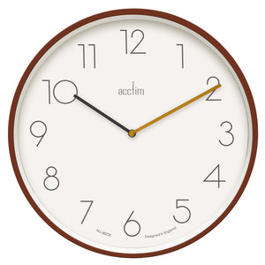 Acctim-Soft Coral Taby 35cm Wall Clock | Eve & Ranshaw