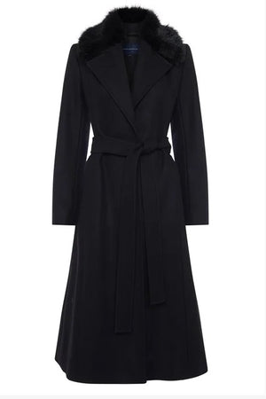 French Connection-Black Amalia Coat | Eve & Ranshaw