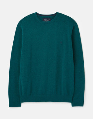 Joules-Jarvis Crew Neck Jumper Green Marl | Eve & Ranshaw