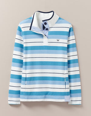 Crew Clothing-Padstow Sweat Blue Stripe | Eve & Ranshaw