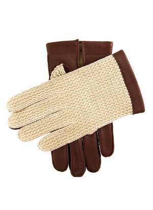 Dents-Mens Crochet Back Leather Gloves | Eve & Ranshaw