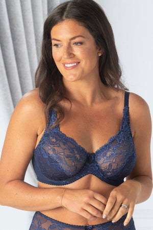 Charnos-Rosalind Full Cup Bra Navy | Eve & Ranshaw
