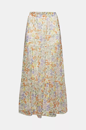 Esprit-Skirts Knitted Midi, Off White Floral | Eve & Ranshaw