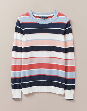Crew Clothing-Stratford Stripe Jumper Multi | Eve & Ranshaw