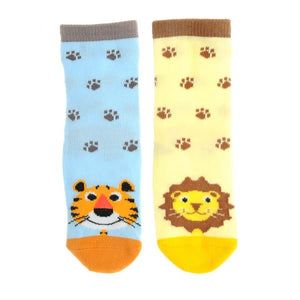 Ziggle - Terrence Tiger and Livingston Lion Socks Set | Eve & Ranshaw