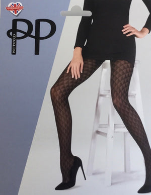 Pretty Polly-Triangle Pattern Tights Black | Eve & Ranshaw