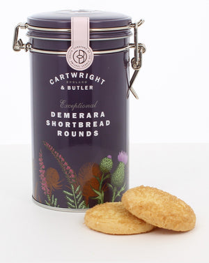 Cartwright & Butler-Demerara Shortbread Rounds In A Tin | Eve & Ranshaw