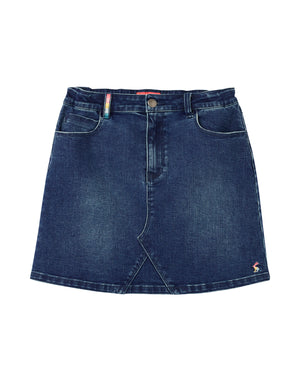 Joules-Hollis 5 Pocket Denim Skirt Denim | Eve & Ranshaw