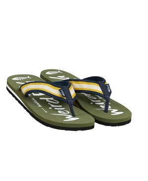 Weird Fish-Waterford Printed Flip Flop Dark Olive | Eve & Ranshaw