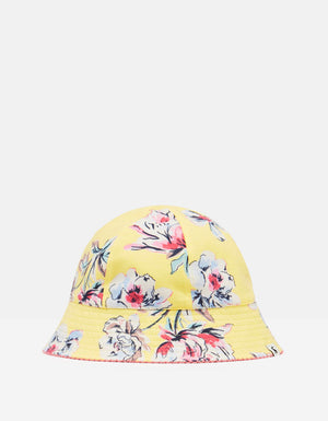 Joules-Funseeker Reversible Hat Yellow Floral 3-7 Years | Eve & Ranshaw