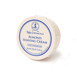 Taylor Of Old Bond Street-Almond Shaving Cream 150G | Eve & Ranshaw